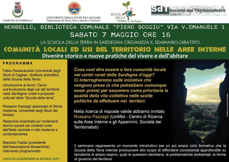 seminario comunità locali ed usi del territorio nelle aree interne